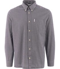 ben sherman long sleeve mini house gingham shirt - dark navy 0055260