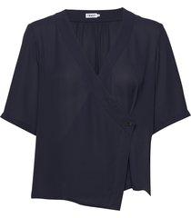 reagan blouse blouses short-sleeved blauw filippa k