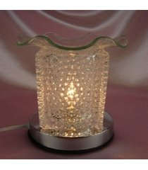 clear bubble glass touch lamp oil/tart warmer - use with scentsy wax