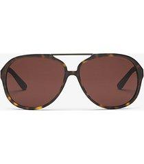 mk occhiali da sole auden - tartaruga scuro (marrone) - michael kors
