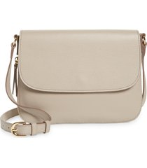 nordstrom georgetown leather crossbody bag - beige