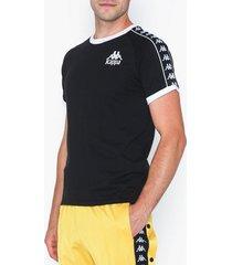 kappa t-shirt s/s, auth. raul t-shirts & linnen svart/vit