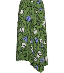 ladies skirt, iiris knälång kjol grön nanso