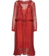 malin jurk knielengte rood custommade