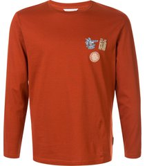 gieves & hawkes travel patch long sleeve top - orange