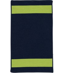 colonial mills aurora navy green 2' x 4' accent rug bedding
