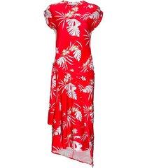 cap sleeve floral midi dress