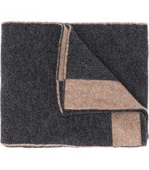 dell'oglio two-tone cashmere scarf - grey