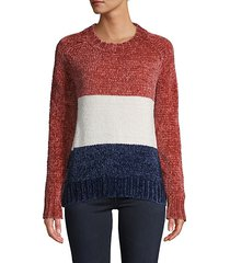 colorblock crew sweater