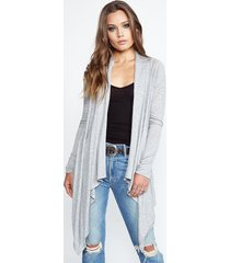 ivory cardigan wrap - l heather grey