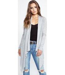 ivory cardigan wrap - l heather grey