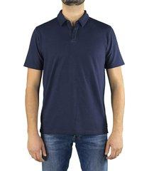 roberto collina navy blue polo shirt