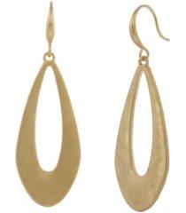 the sak gold-tone open teardrop earrings