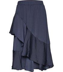 skirt knälång kjol blå sofie schnoor