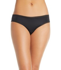 women's thinx period proof cheeky panties, size large - black
