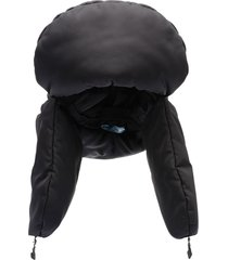 prada padded trapper hat - black