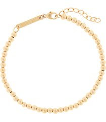 zoe chicco beaded bracelet, size 7 in in yellow gold at nordstrom