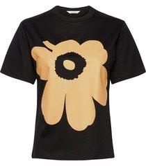 kapina unikko t-shirt t-shirts & tops short-sleeved zwart marimekko