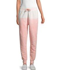 eleven paris women's tie-dyed pants - pink multi - size l