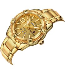 gli orologi di lusso dell'acciaio inossidabile dell'orologio della data degli orologi degli uomini luminosi impermeabili di naviforce guardano