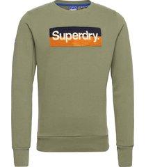 cl workwear crew sweat-shirt tröja grön superdry