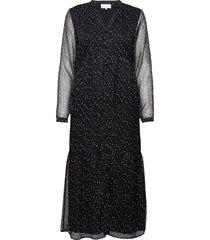 deka dress knälång klänning svart minus