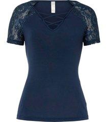 maglia con pizzo (blu) - bodyflirt boutique