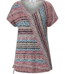shirt v-hals en verlaagde schoudernaden van anna aura roze