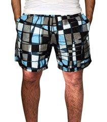 shorts ks praia microfibra azul