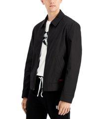 hugo men's black barry jacket, created for macy's