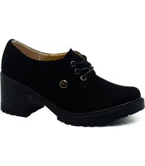 zapato  bolichero zavatty lince-negro para mujer, modelo ta236