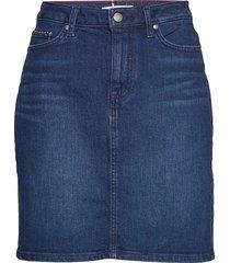 rome straight hw skirt evi kort kjol blå tommy hilfiger