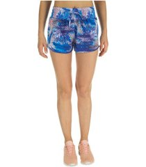 shorts vestem estampado - feminino - azul cla/rosa
