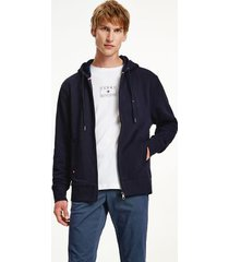 tommy hilfiger men's organic cotton teddy-lined hoodie desert sky - xl