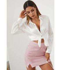 minifalda con dobladillo con abertura en jacquard de yoins