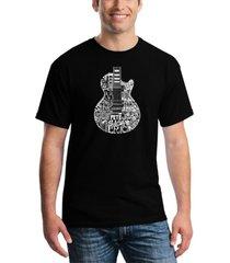 men's rock guitar head word art t-shirt
