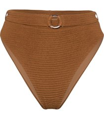 juillet ashley belted bikini bottoms - brown