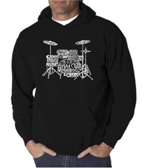 la pop art men's word art hoodie - drums