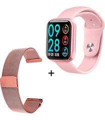 rélogio xtrad smartwatch bluetooth full pro notificações redes sociais - rosa