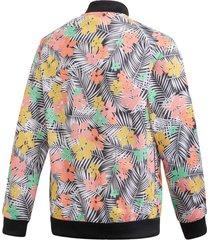 jaqueta adidas sst top originals multicolorido - multicolorido - menina - dafiti
