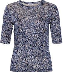 rodebjer harmony swirl blouses short-sleeved blauw rodebjer