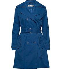 jiaiw trenchcoat trenchcoat lange jas blauw inwear