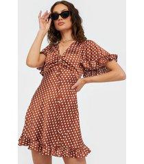 ax paris v neck dot dress loose fit dresses