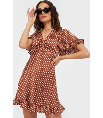 ax paris v neck dot dress loose fit dresses