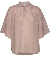 aida ss blouse blouses short-sleeved rosa second female