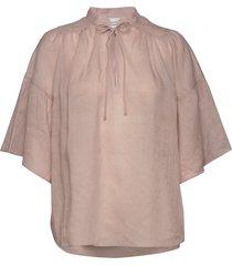 aida ss blouse blouses short-sleeved rosa second female
