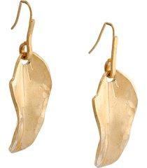 marni leaf drop earrings
