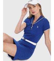 vestido azul-royal-blanco us polo assn