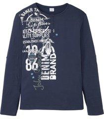 maglia serafino in cotone biologico a maniche lunghe (blu) - john baner jeanswear