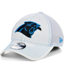 new era carolina panthers white team color tonal neo 39thirty cap